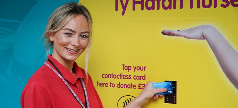 Charity boosts income with contactless shop window