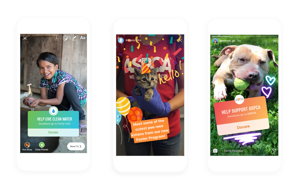 Instagram launches donation stickers for charities