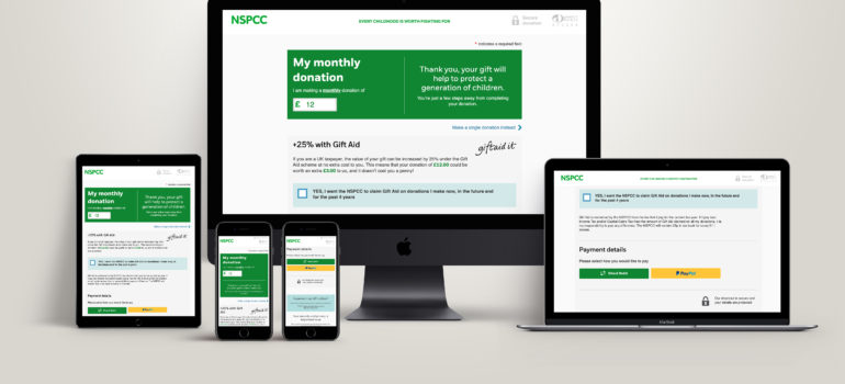 Digital wallet donations lead to increase in giving for NSPCC