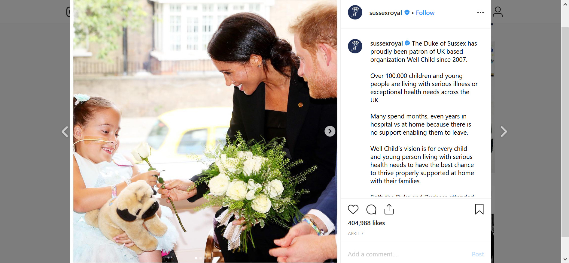 Duke and Duchess of Sussex use Instagram to back charities
