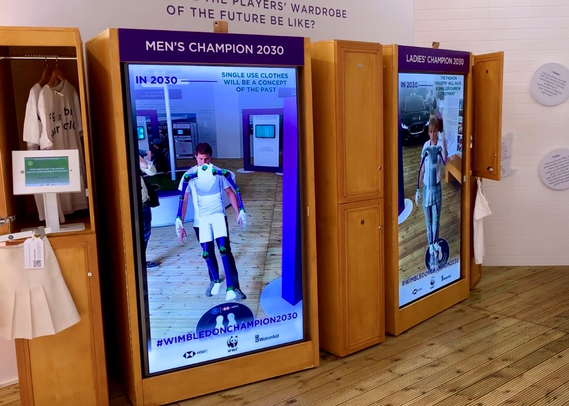 How Augmented Reality brought sustainable fashion home to Wimbledon fans
