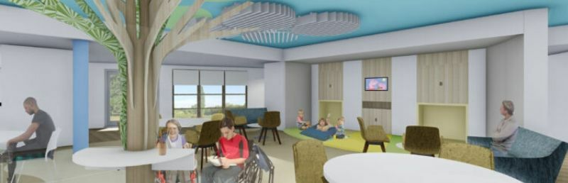 Computer generated visuals at centre of children's hospice appeal
