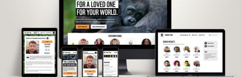 WWF UK launches a tribute fund website to raise funds in memory of loved ones