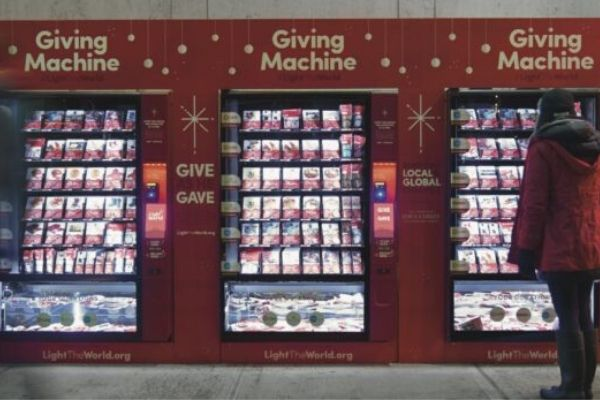 Vending machines for charity return to the UK