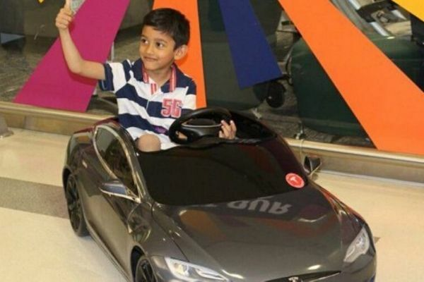 Young patients using electric cars to drive themselves to surgery