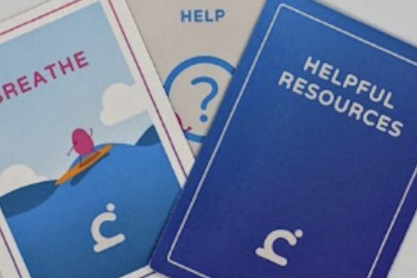 Mental health app helps create 'calm cards'