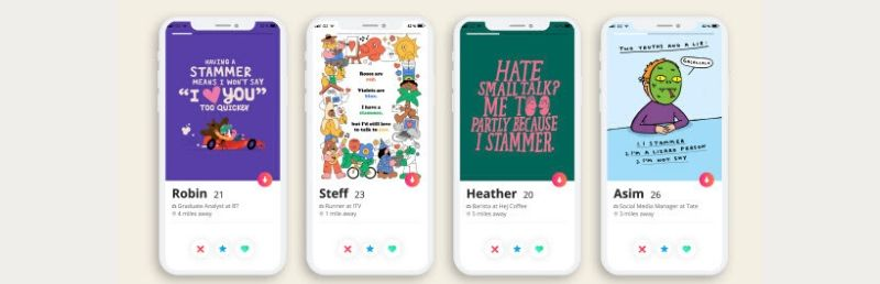 Charity offers dating app help to people with a stammer