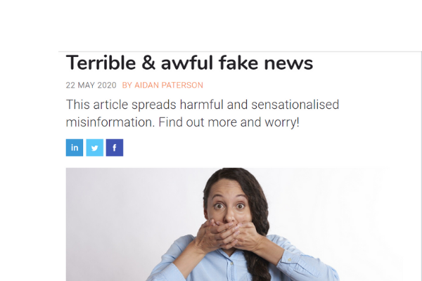 How charities can fight back against the COVID-19 'fake news' epidemic